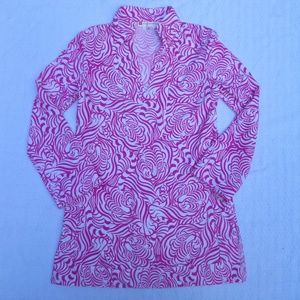 Jude Connally Chris Tunic Top-Hidden Tigers Pink-S